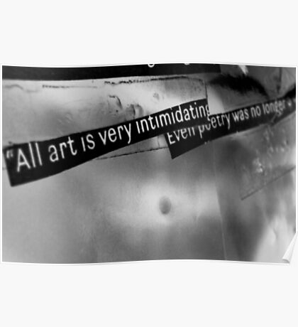 The truth about art. Poster