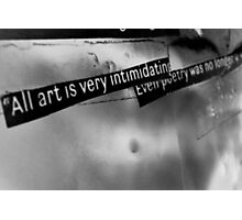 The truth about art. Photographic Print