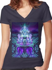 Expanding horizons Women's Fitted V-Neck T-Shirt