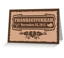 Thanksgiving meets Hanukkah Thanksgivukkah Print Greeting Card