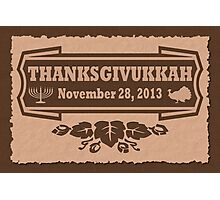 Thanksgiving meets Hanukkah Thanksgivukkah Print Photographic Print