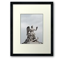 Woman with Wreath Framed Print