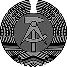 COAT OF ARM DDR EAST GERMANY black and white by SofiaYoushi