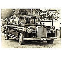 Mercedes Benz Vintage Photographic Print