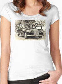 Mercedes Benz Vintage Women's Fitted Scoop T-Shirt