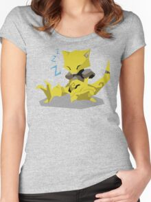Cutout Abra Women's Fitted Scoop T-Shirt
