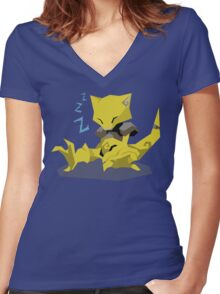 Cutout Abra Women's Fitted V-Neck T-Shirt