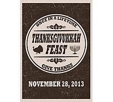Thanksgivukkah Print - Thanksgiving meets Hanukkah  Photographic Print