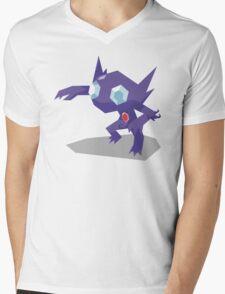 Cutout Sableye Mens V-Neck T-Shirt