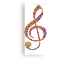 Psychedelic Music Symbol Canvas Print