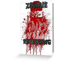 Zombie Reckoning Greeting Card