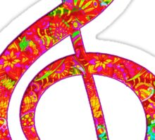 Psychedelic Music Symbol Sticker