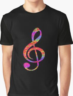 Psychedelic Music Symbol Graphic T-Shirt