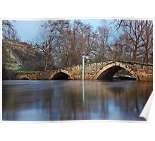 The stone arched bridge of Angista Poster