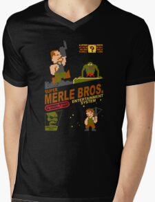 Super Merle Brothers Mens V-Neck T-Shirt