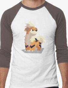 Cutout Growlithe Men's Baseball ¾ T-Shirt
