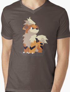 Cutout Growlithe Mens V-Neck T-Shirt