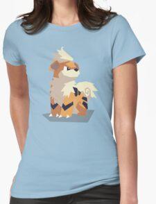 Cutout Growlithe Womens Fitted T-Shirt