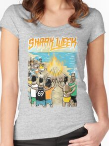 Beach Party w Brown Bottles - Colour Women's Fitted Scoop T-Shirt