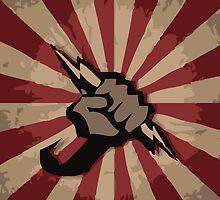 RAISED FIST POWER TO THE PEOLE by SofiaYoushi