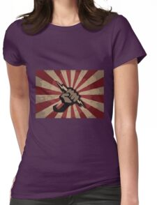 RAISED FIST POWER TO THE PEOLE Womens Fitted T-Shirt