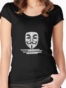 Anonymous / V for Vendetta Guy Fawkes mask tee Women's Fitted Scoop T-Shirt