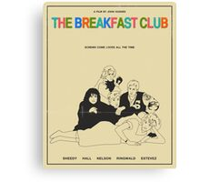 Breakfast Club Movie Poster Canvas Print