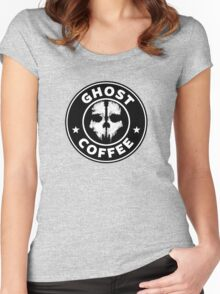 Ghost Coffee 2 Women's Fitted Scoop T-Shirt