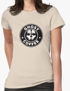 Ghost Coffee 2 Womens Fitted T-Shirt
