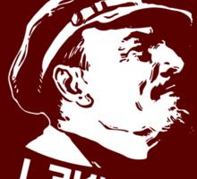 LENIN RED PORTRET LOGO Sticker