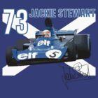 Jackie Stewart Scottish Flag by AlexVentura