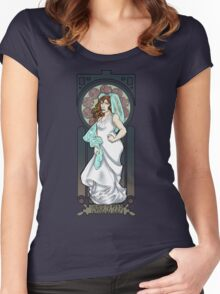 Dr. Who Art Nouveau-Donna Noble Women's Fitted Scoop T-Shirt