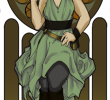 Dr. Who Art Nouveau-River Song Sticker