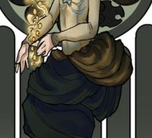 Dr. Who Art Nouveau-The Tardis/Idris Sticker