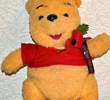 Pooh Bear Wears His Poppy With Pride by lynn carter