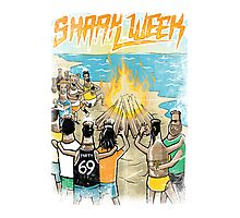 Shark Week Beach Party Poster Photographic Print
