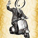 Mr O on his vespa by Vin  Zzep