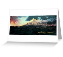 The Hobbit: The Lonely Mountain Greeting Card