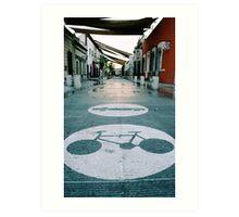 Mobility urban alley Art Print
