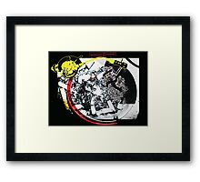 Cigarette Turntable Collage Framed Print
