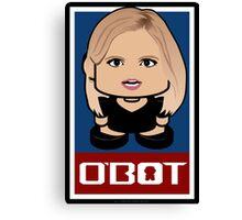 Ann Coulter Politico'bot Toy Robot 2.0 Canvas Print