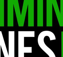 Criminal mines Sticker