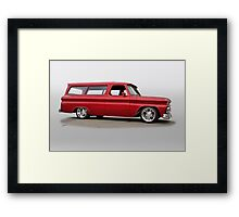 1965 Chevrolet Custom Suburban Framed Print
