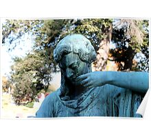 Statue, Rock Creek Cemetery Poster