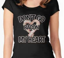 Don't go bacon my heart for Valentine's Day Women's Fitted Scoop T-Shirt