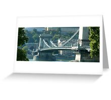 Across the Danube, Budapest Greeting Card