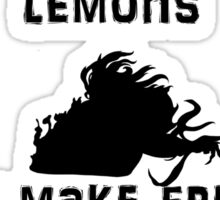 When life gives you freaky alien lemons Sticker