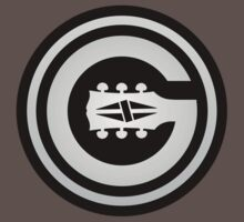 Gibson Guitar  Gray Sign decoration Clothing & Stickers by goodmusic