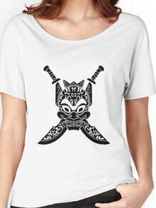 Blue Spirit (black & white) Women's Relaxed Fit T-Shirt