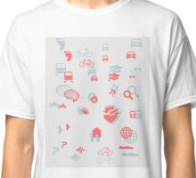 Urban mobility icons Classic T-Shirt
